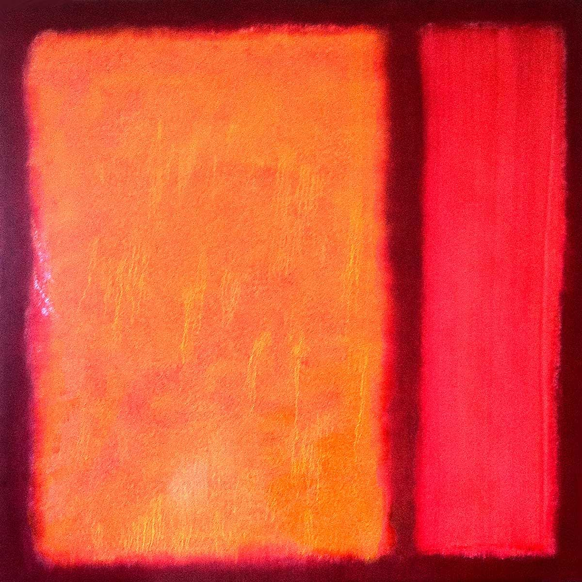 color-field-painting-orange-rot